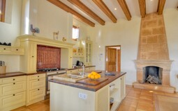 Villa in Camp de Mar - Kitchen with Fireplace