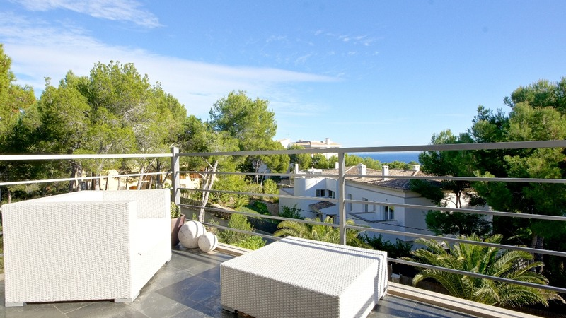 Villa in Cala Vinyes - Terrace from Dining room