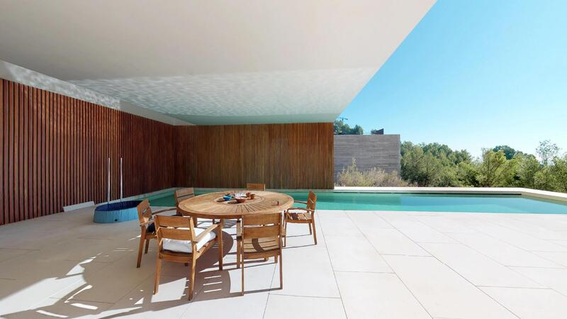 Villa in Son Vida - Poolside dining