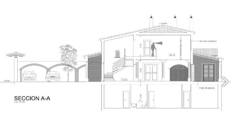 Mansion in Camp de Mar - Floor plan - V-campmar-110 Facade