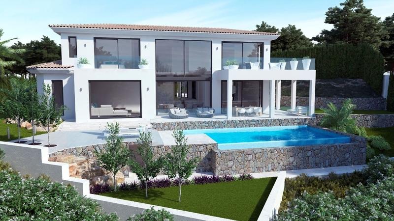 Villa in Nova Santa Ponsa - Facade garden & pool FL