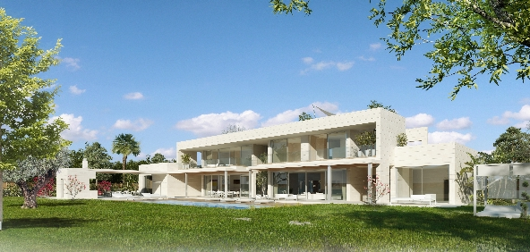 Villa in Son Vida - Facade south 2
