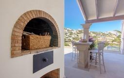 Villa in La Mola - BBQ in upper terrace