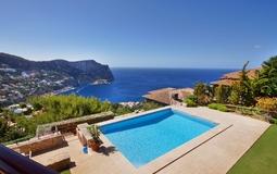 Villa in Cala Llamp - Upper terrace view
