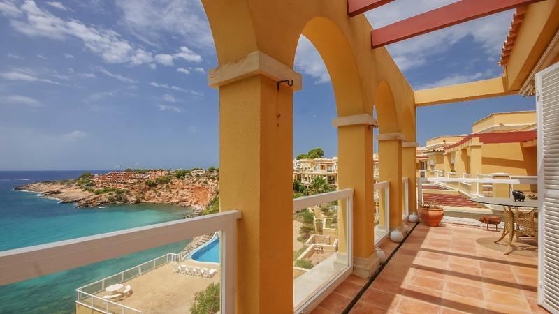 Penthouse in Nova Santa Ponsa - Terrace and sea view