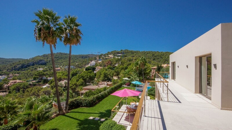Villa in Son Vida - Garden view from upper terrace