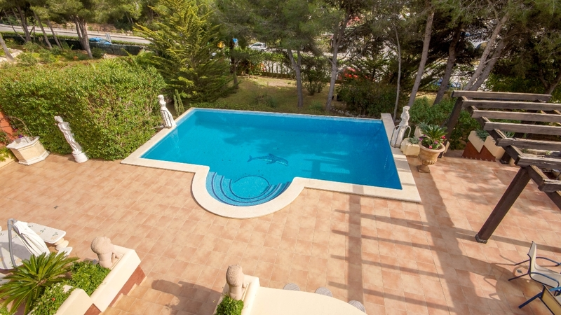 Villa in Costa de la Calma - Pool view from upper terrace