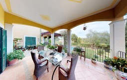 Villa in Cala Vinyes - Covered Terrace