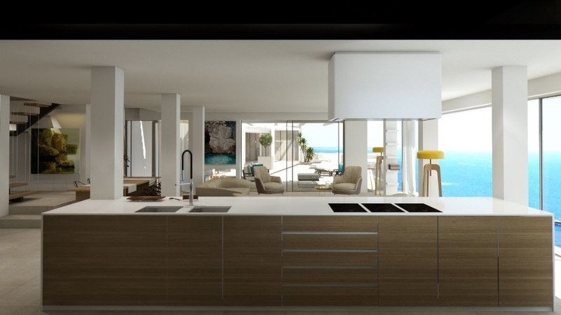 Penthouse in Illetes - Open Plan Kitchen  & Living