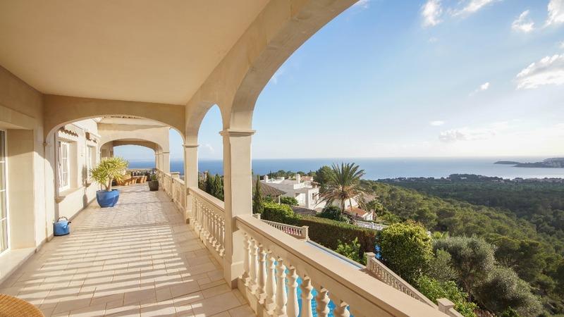 Villa in Costa D´en Blanes - Terrace view