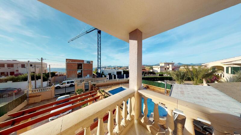 Villa in El Toro - Port Adriano - Upper Master Bedroom Balcony Views
