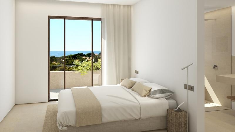 Penthouse in Bonanova - Dormitorio con vista