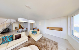 Penthouse in Illetes - Living open plan with dining