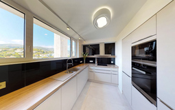Penthouse in Illetes - Kitchen with mountain and sea view