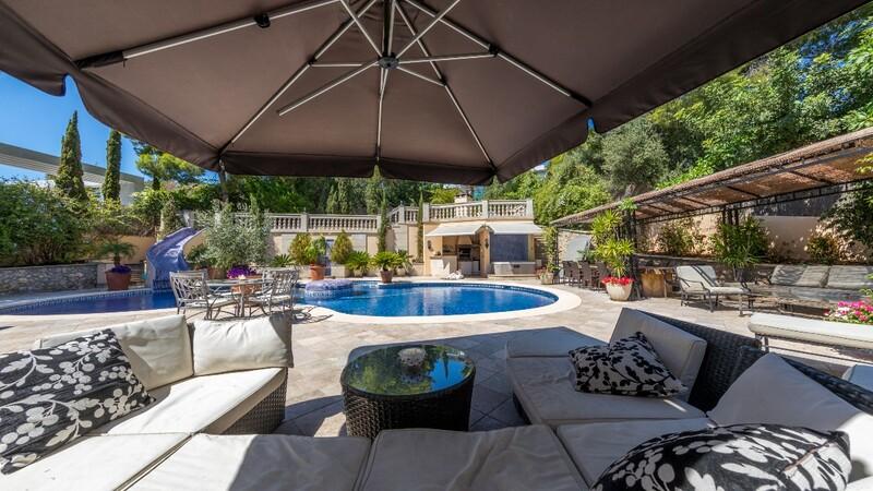 Villa in Costa D´en Blanes - Pool terrace