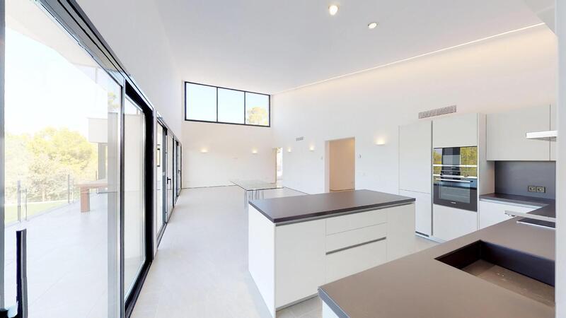 Villa in Cala Vinyes - Open plan living space