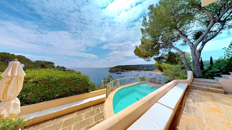 Villa in Mallorca - Terrace with Pool and sea views
