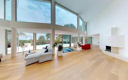 Villa in Sol de Mallorca - Spacious living with fireplace