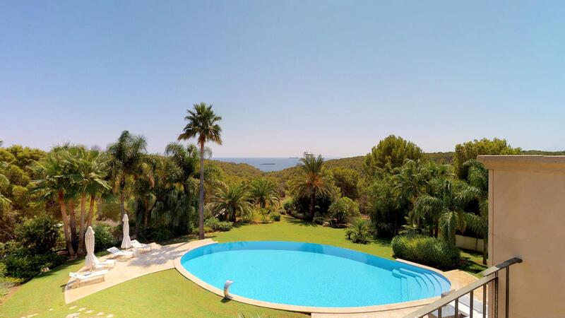 Villa in Cala Vinyes - Sea and pool view from master bedroom