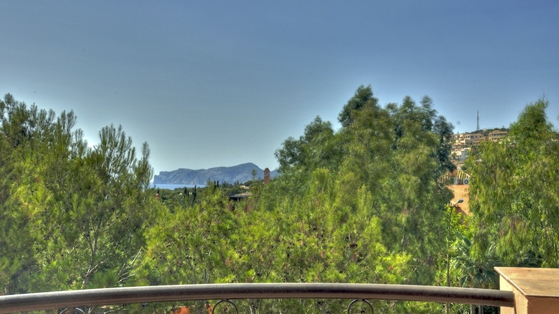 Penthouse in Nova Santa Ponsa - View from Back Terrace