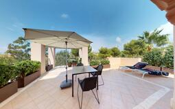 Penthouse in Nova Santa Ponsa - Kitchen terrace (back)