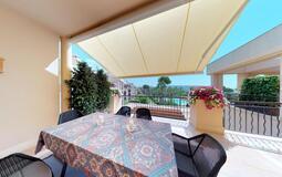 Penthouse in Nova Santa Ponsa - Exterior dining with pool views