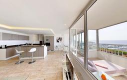 Apartment in Portals Nous - Living space with Puerto portals sea views