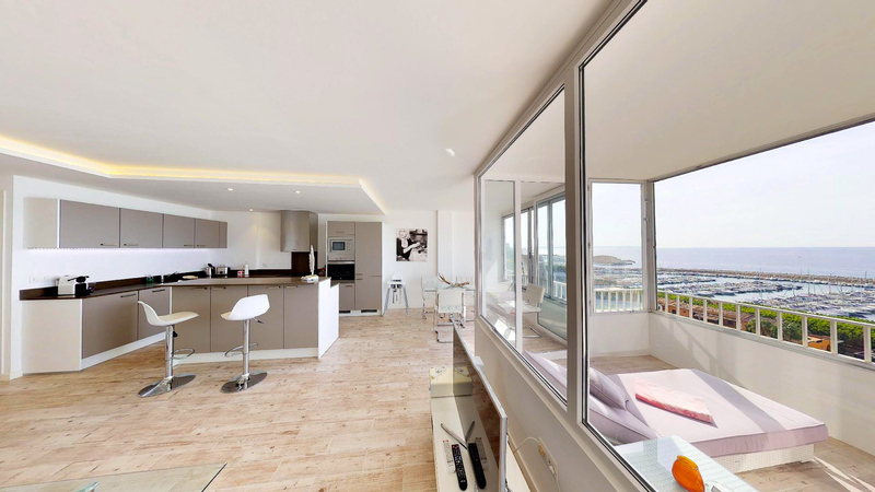 Apartment in Portals Nous - Living space with Puerto portals sea views