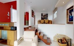 Villa in El Toro - Port Adriano - Split level living and dining room