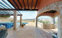 Villa in El Toro - Port Adriano - Large covered terrace overlooking Puerto Adriano