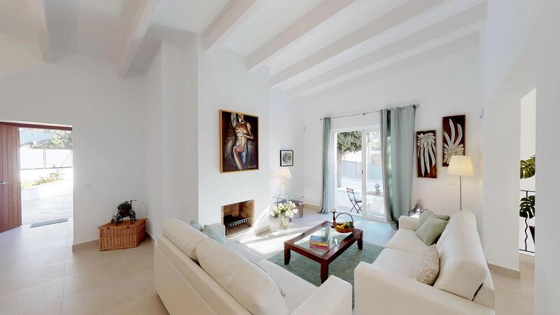 Villa in Portals Nous - Living room with fireplace